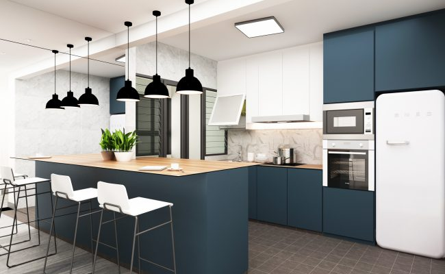 Classic Blue Kitchen (2)