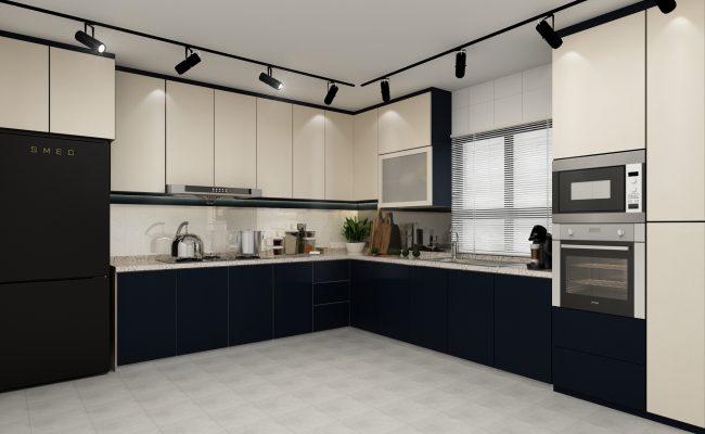 Sleek Mono Kitchen (1)