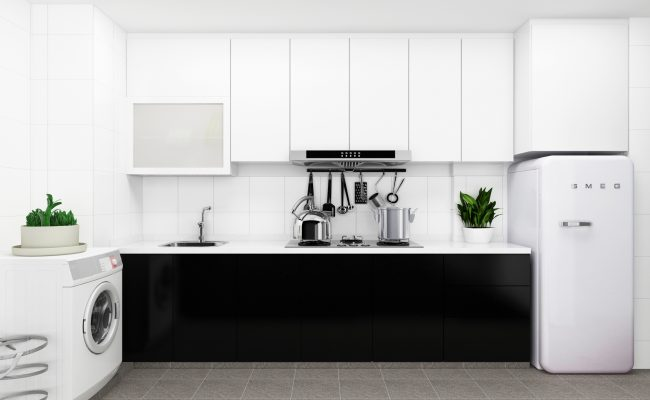 Sleek Mono Kitchen (2)