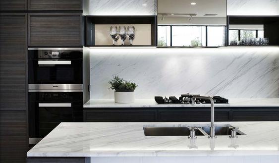 Sleek Mono Kitchen